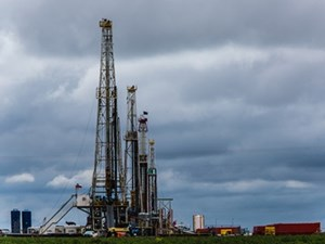 XTO Energy drilling rigs in west Texas
