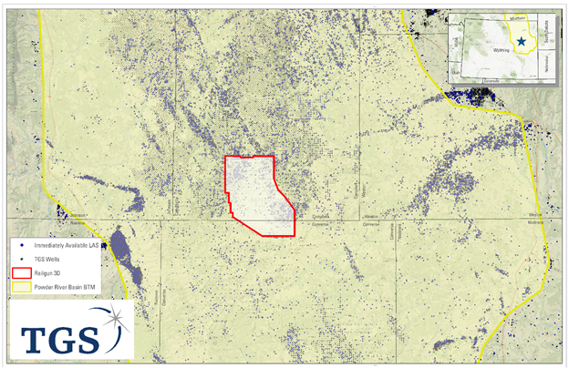 Powder River Wyoming Map.Tgs Enters New Play In U S Onshore With Railgun 3d Seismic Survey