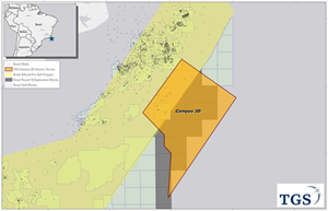 TGS announces a new multi-client 3D seismic survey in the Campos Basin in Brasil