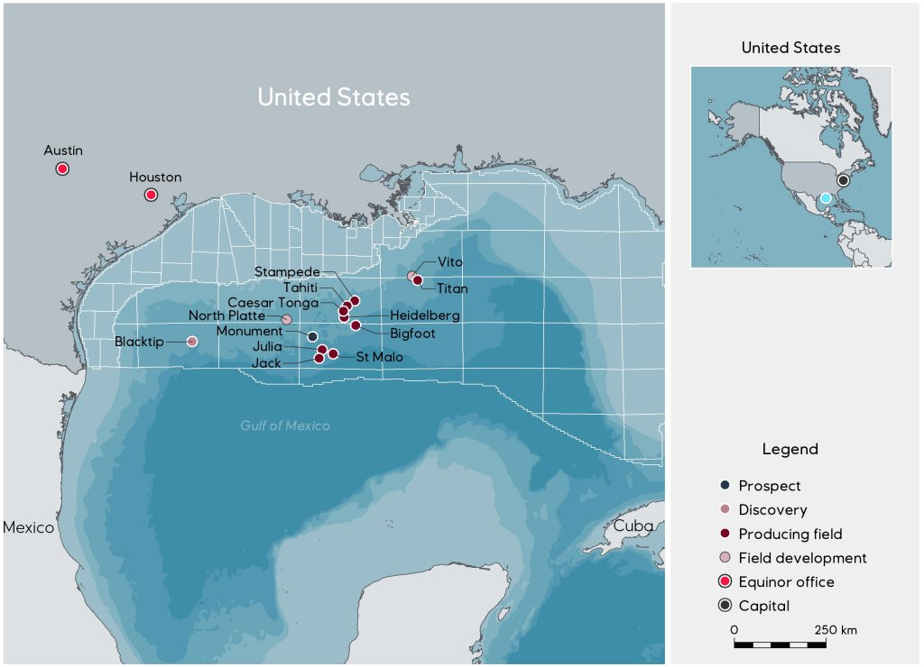 Shell Makes A Deepwater Discovery In The Us Gulf Of Mexico - Us-and-mexico-map