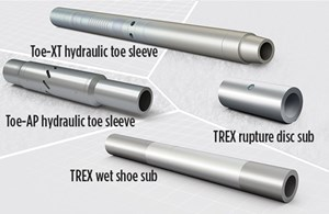 Fig. 2. With a range of functionalities, hydraulic toe subs can be incorporated into a variety of completion designs, to reduce operational risk in stimulating the first stage of a horizontal well.
