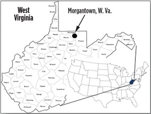 Fig. 1. The site is located at NNE's Morgantown Industrial Park (MIP) site just outside of Morgantown, W. Va.