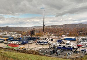 Fig. 2. The Northeast Natural Energy Morgantown Industrial Park site, during stimulation of the MIP 5 production well.