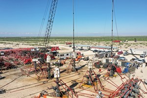 Fig. 3. Five Freedom Series systems operating simultaneously on the Primexx well pad in Reeves County, Texas.