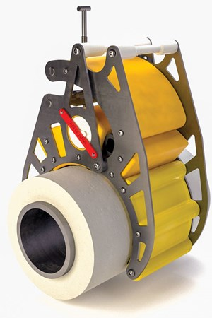 Fig. 1. Trelleborg's Mimir MC (Motion Clamp) can be used repeatedly, over the life of a pipeline.