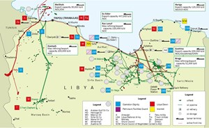 Key Libyan oil and gas infrastructure