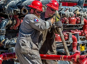Liberty Oilfield Services frac crew at work