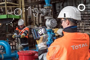 Fig. 1. TotalEnergies is training its workforce in the use of digital equipment to increase mobility on industrial sites. Image: ZYLBERMAN Laurent - Graphix Images – TotalEnergies.