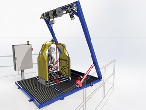 Fig. 6. Reflex Marine's remotely operated winched access concept.