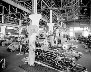 Fig. 2. Richmond Refinery machine shop in 1931 supported the West Coast's largest and most advanced refinery plant.
