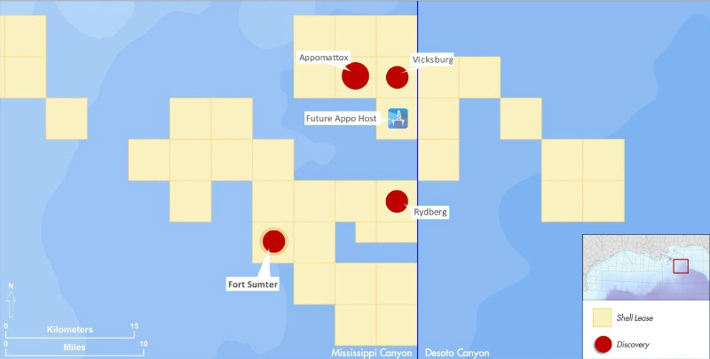 Shell Reports New Deepwater Discovery In US Gulf Of Mexico - Fort sumter on us map