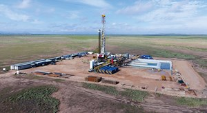 Fig. 1. One of the four to six rigs that Apache plans to run this year on its new Alpine High resource play in the southern Delaware basin. Image: Apache Corp.