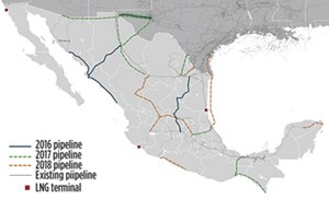 Fig. 1. Mexico's energy infrastructure.