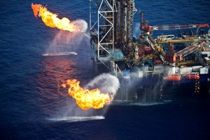 Offshore natural gas flaring test