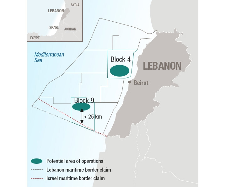 Lebanon Vows It Will Use Offshore Energy Reserves Disputed by Israel