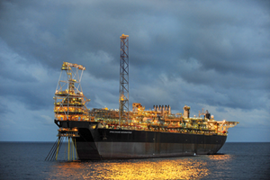 Fig. 2. Anadarko's Jubilee field, produced through the FPSO Kwame Nkrumah, is an example of development occurring outside traditional producing areas of Africa. Photo: Anadarko Petroleum.