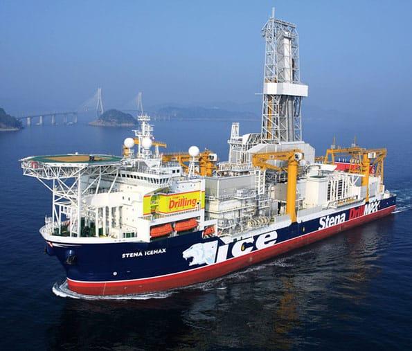 ExxonMobil drillship on location - Cyprus Block 10