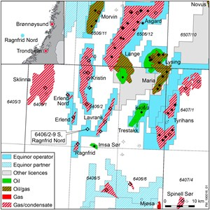 Equinor has  made a gas, condensate discovery south of the Kristin field